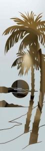 Palm Sunset Glass Door Inserts