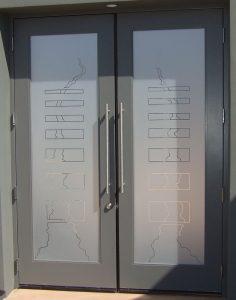 Triptic Bands Glass Door Inserts