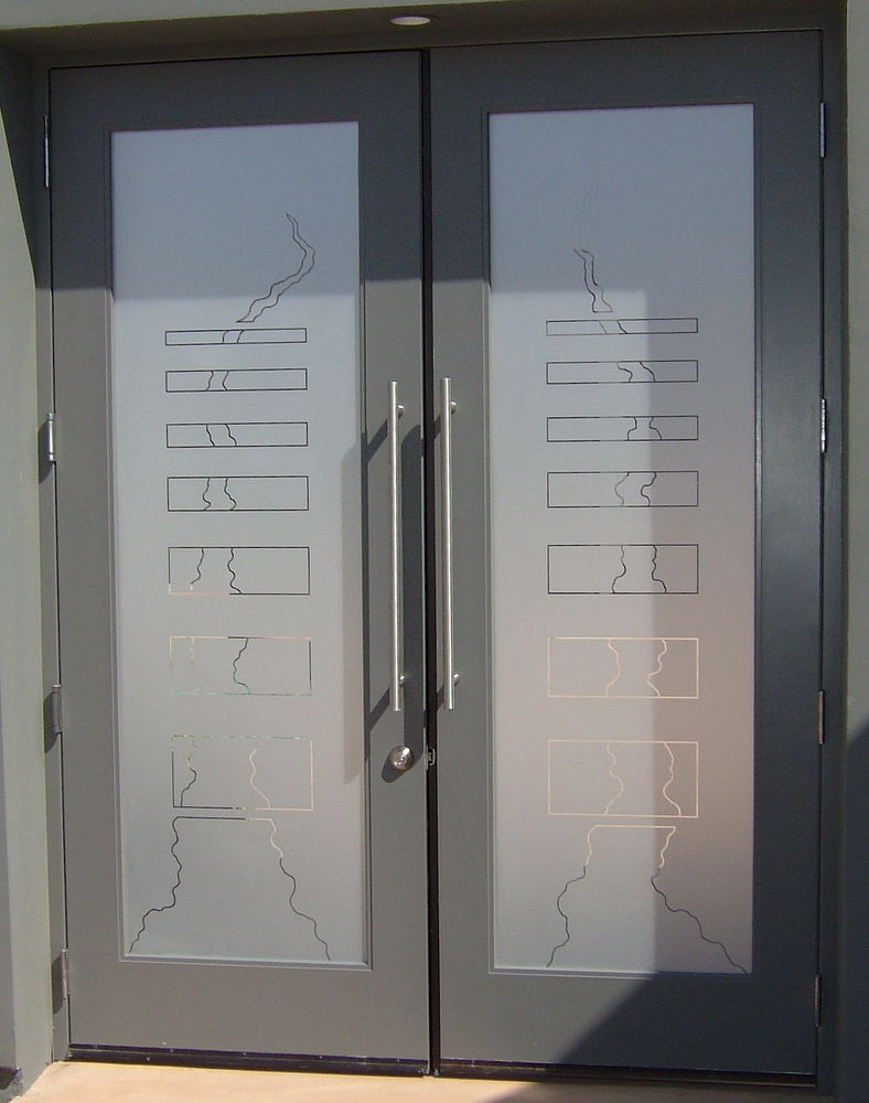 Exterior Entry Doors With Glass Of Triptic Bands Glass Door Inserts Sans Soucie