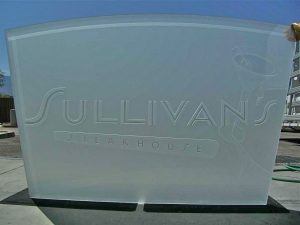 Sullivan's Steakhouse ll Glass Partition Enclosed