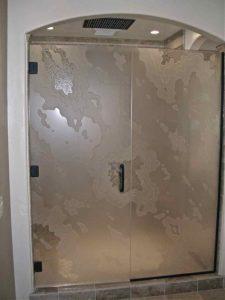 Amoeba Pattern Shower Enclosure