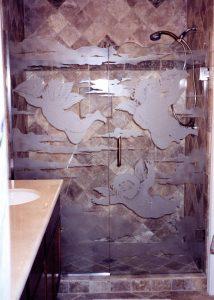 Flying Cupids Glass Shower Enclosure