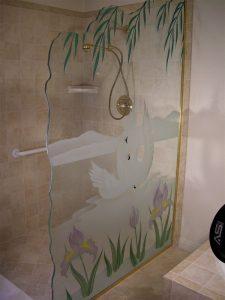 Swan Song Glass Shower Panels