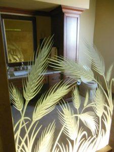 Wheat Shower Glass