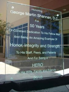 Honoring George Martin Shannan Glass Signs
