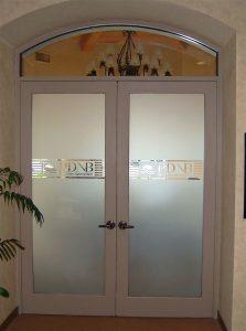 Palm Desert National Bank II Glass Signs