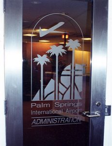 Palm Springs Airport Glass Signs