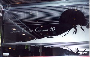 Town Center Cinema 10 Glass Signs
