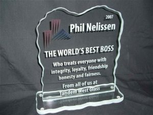 World's Best Boss Glass Signs