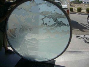 Bonsai Egret Round Window