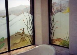 Desert Colors Glass Window