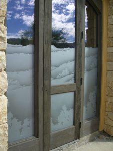 Dsrt  Views Rsrv II Glass Window Etched Glass Rustic Style