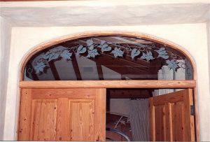 Honeysuckle Vine Glass Window