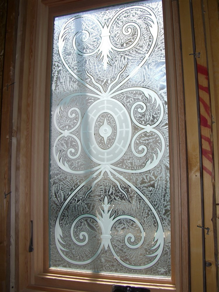 Lazio glass window etched glass tuscan design for Window pane designs