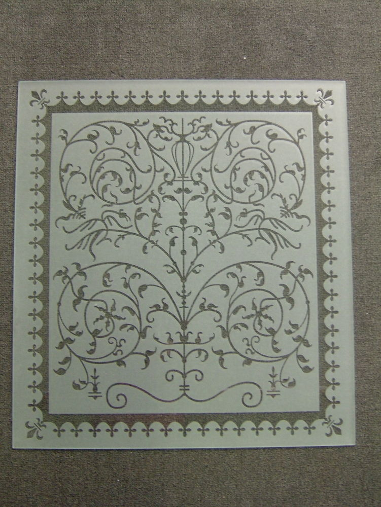 Victorian lace glass window etched glass victorian decor for Window etching