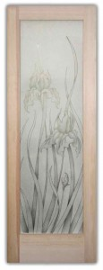 Iris 2D Frosted Background Glass Doors