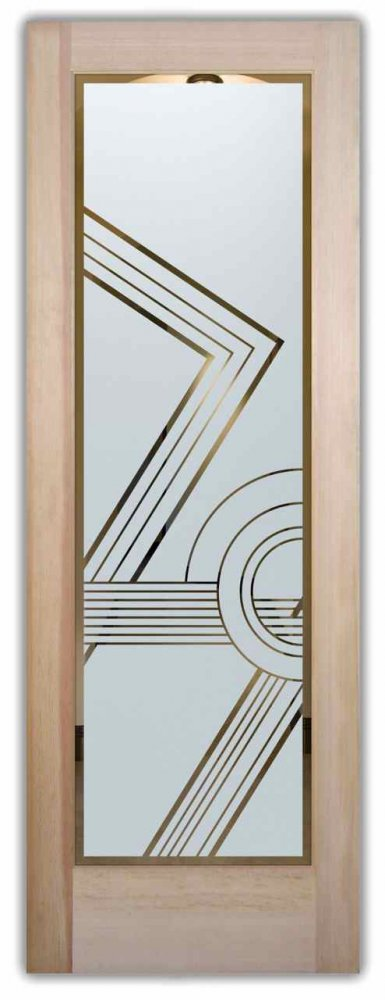 odyssey i etched glass front doors art deco style. Black Bedroom Furniture Sets. Home Design Ideas