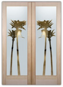Palms Gleaming Negative