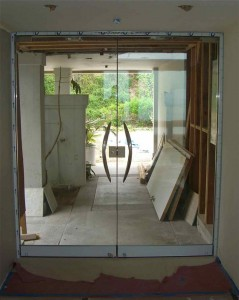 Frameless Entry Plain (Meridian Door Pulls)