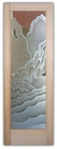 Rugged Retreat 2D Etched Glass Doors Rustic Decor