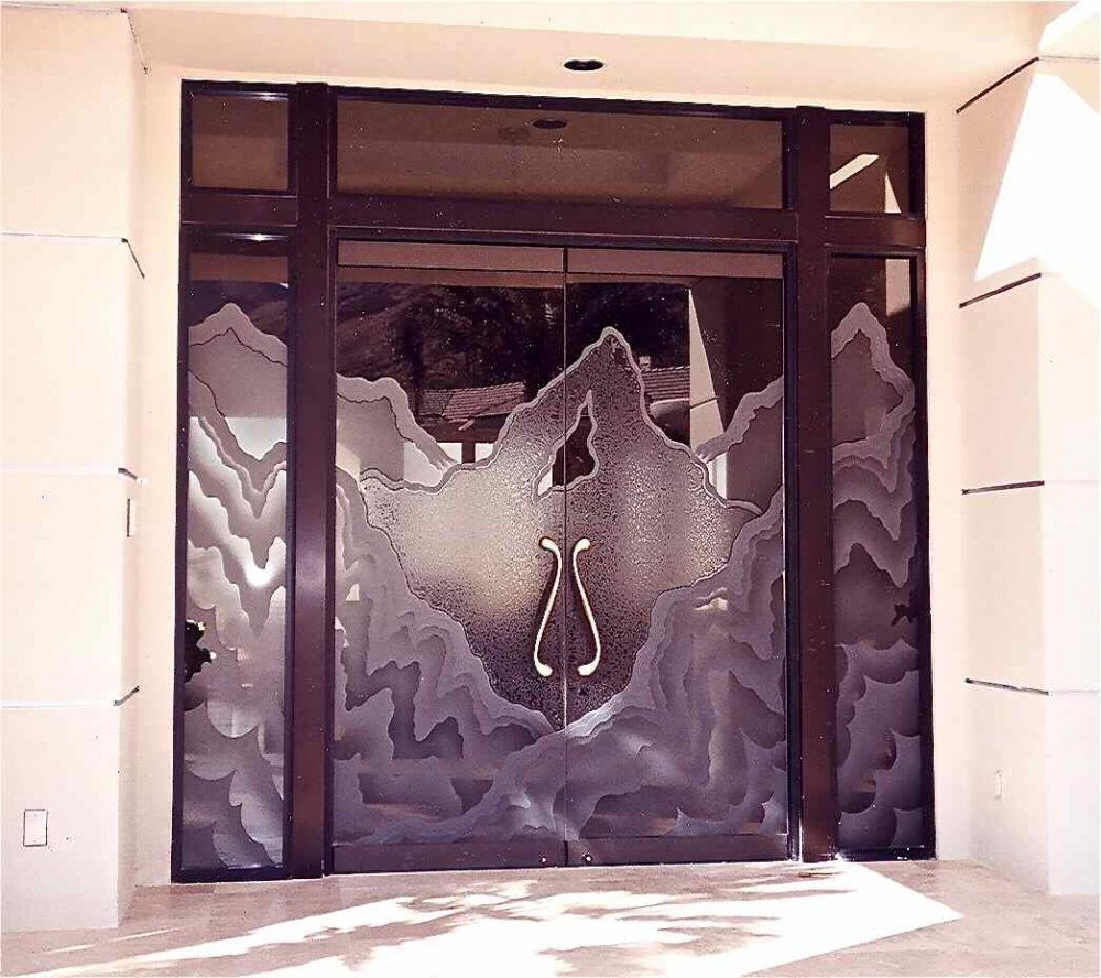 Rugged Retreat Bronze All Glass Entry I