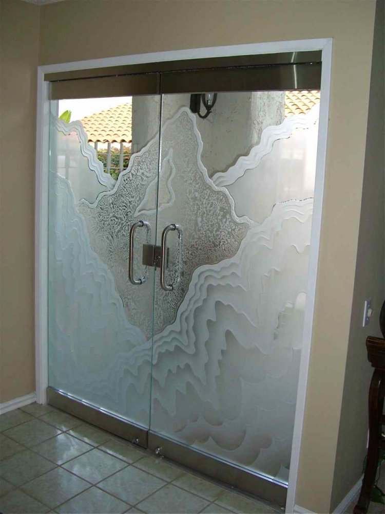 Interior doors glass frameless for Frameless glass doors