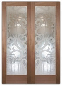 Seville 3D Etched Glass Doors Art Decor Style