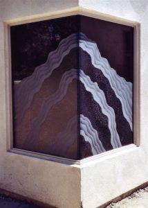 Rugged Waves Shower Glass Window