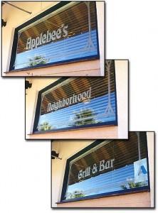 Applebee's Restaurant Signs