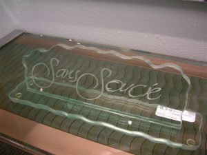 Glass Name Plate Signs