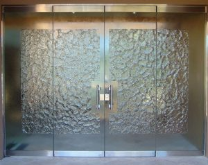 Glass Stone Frameless Entry (cast glass)