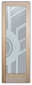 Sun Odyssey Art Deco Design Interior Etched Glass Doors