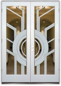 Sun Odyssey ll Interior Doors w/ Glass Etching Modern Style