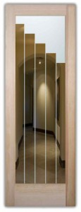 Towers Interior Doors w/ Glass Etching Contemporary Style