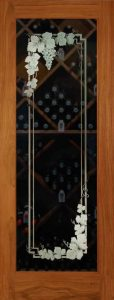 Vineyard Grapes 3D Garland Wine Cellar Glass Doors