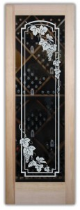 Vineyard Grapes Arched Wine Cellar Doors