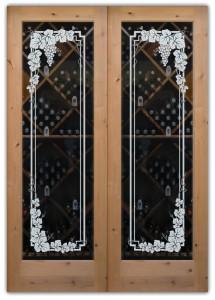 Vineyard Grapes Garland Pair Wine Cellar Doors