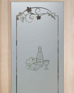 Wine Tasting C 3D Pantry Door - Etched and Carved