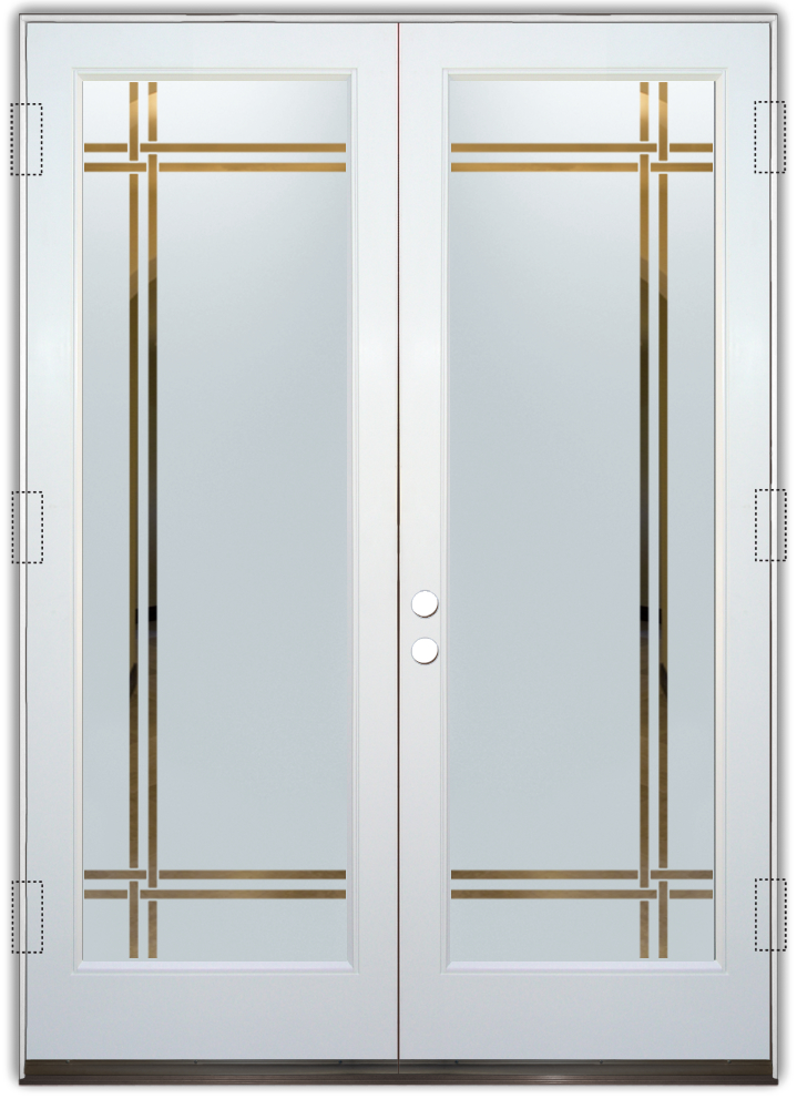 Bandsetched Glass Front Doors Modern Style