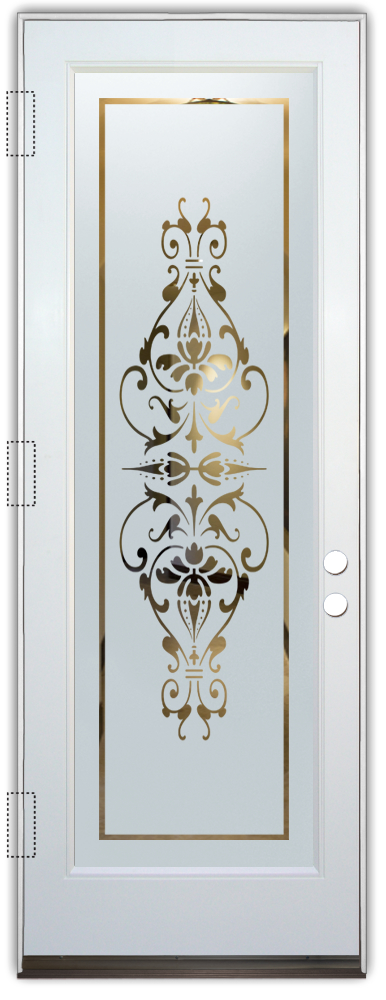 Bordeaux Etched Glass Front Doors Victorian Decor