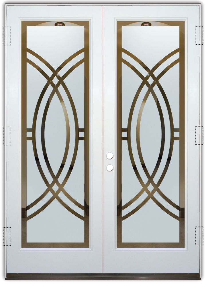 Arcs Ii Etched Glass Front Doors Art Deco Design