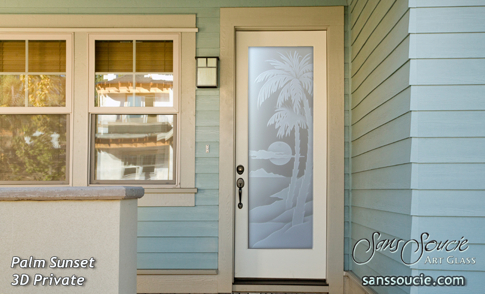All glass doors sans soucie art glass for White front door with glass