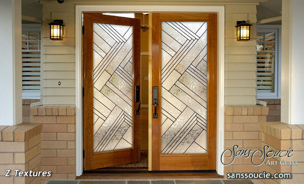 Exterior glass doors with impressive designs sans soucie for Exterior glass wall texture