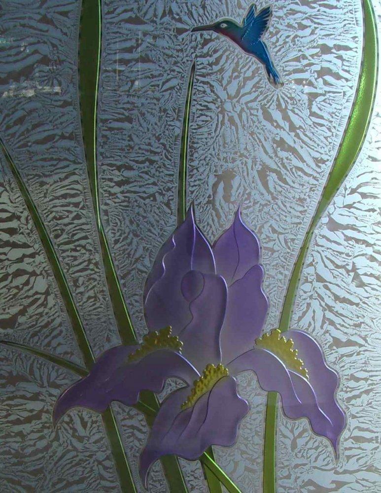 Glass Window Painted Purple