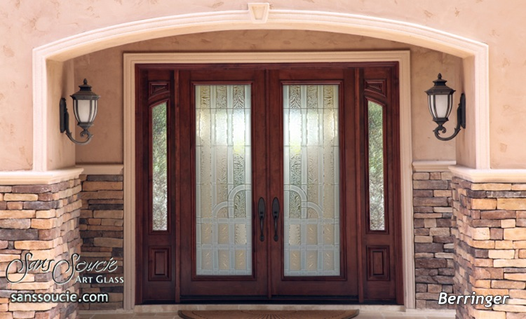 Entry doors sans soucie art glass for Glass front doors