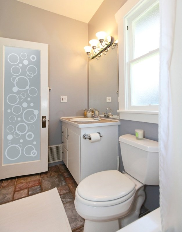 Bathroom Doors With Frosted Glass