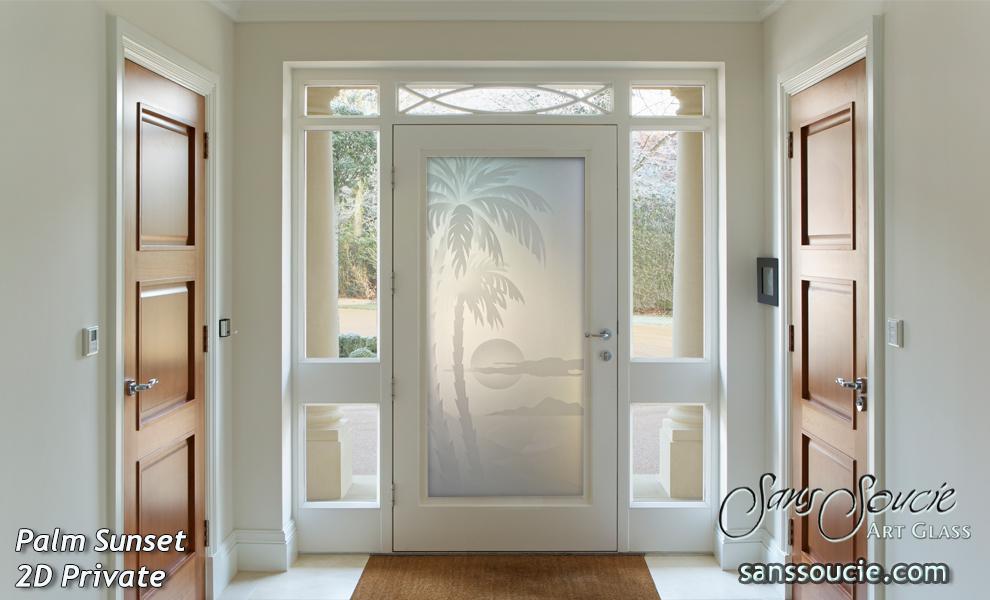 Etched glass doors sans soucie art glass for Glass door in front of exterior door