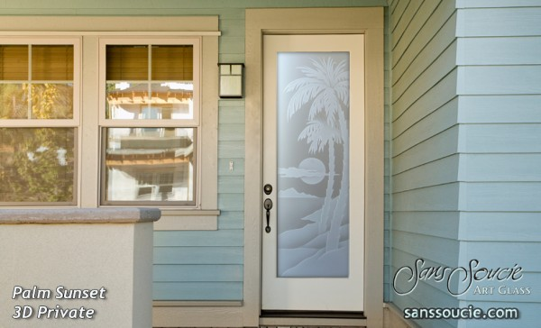glass front doors beach style decor