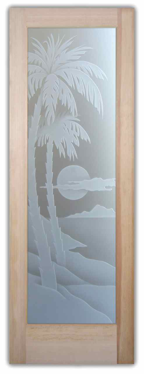 02 palm sunset 3D priv door