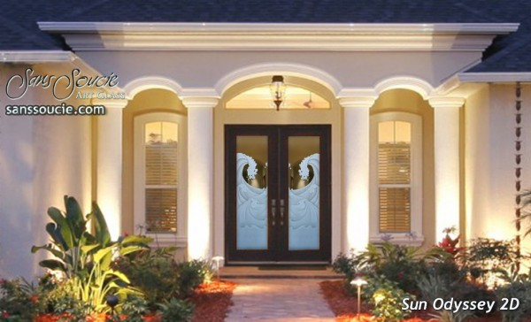 glass front doors beach coastal decor
